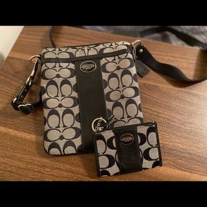 Coach crossbody with matching wallet